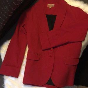 MUDD Red Blazer With Pockets!